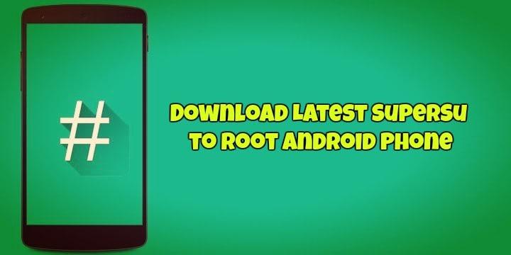 Download and Root with SuperSU Zip via TWRP [Updated 2018