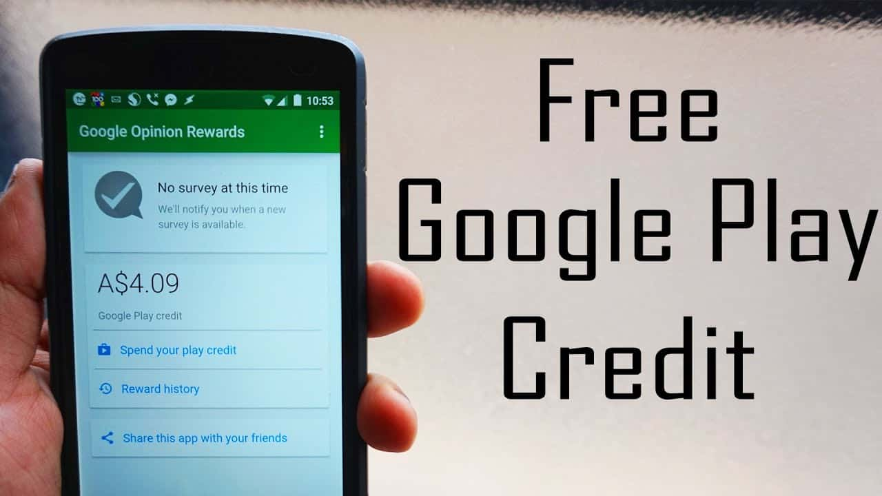 How to Get Google Play Credit For Free?